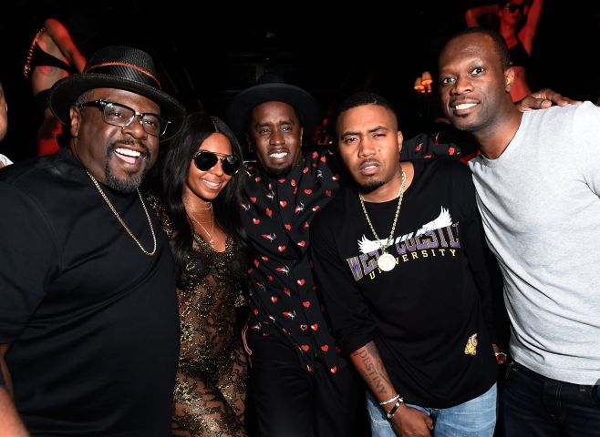 Sean 'Diddy' Combs, Mark Wahlberg and Stephen Espinoza Host Double Or Nothing Welcome To Fight Weekend Kick-Off Powered By CIROC Vodka And AQUAhydrate At LAVO Las Vegas