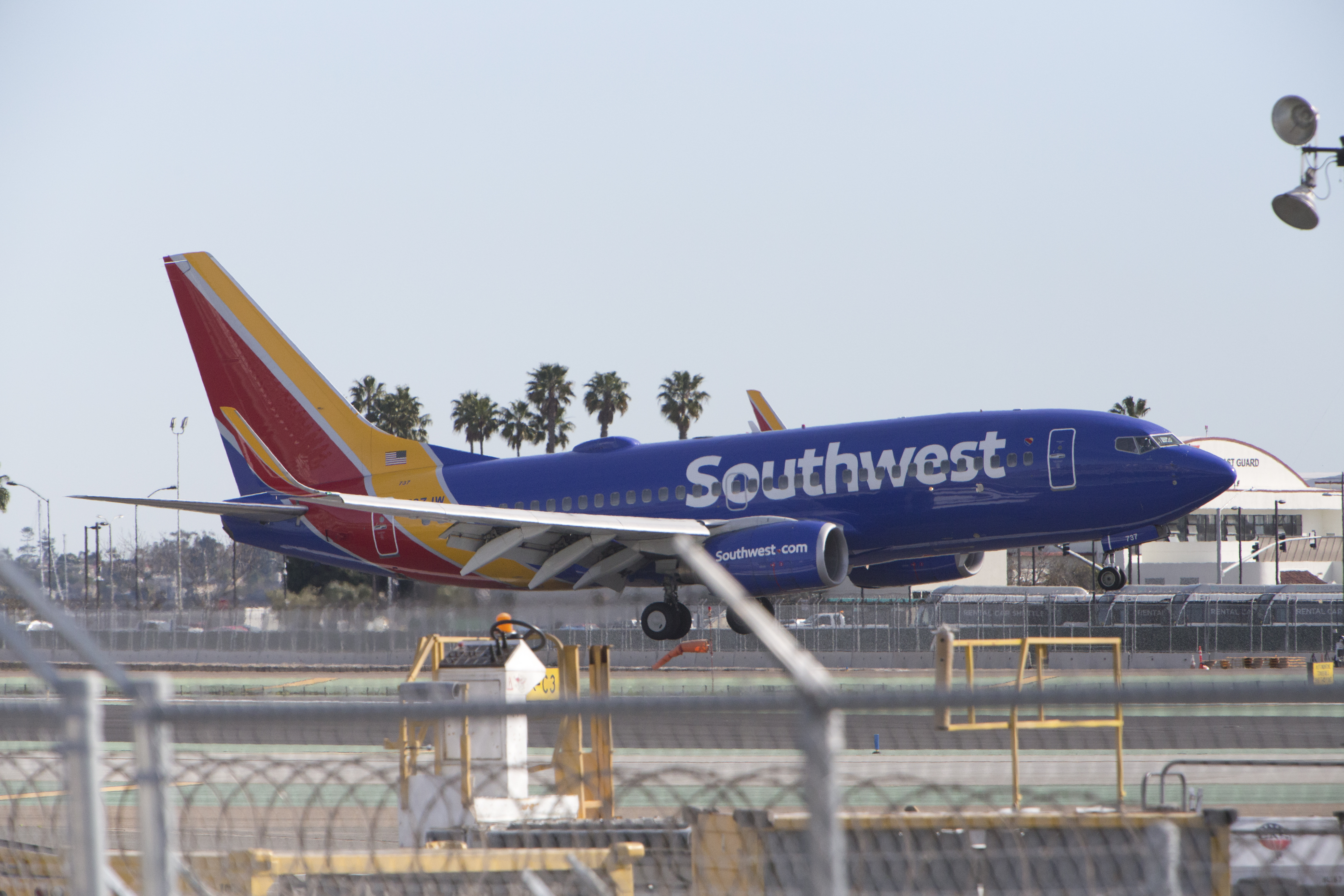 Southwest Boeing approaching airport