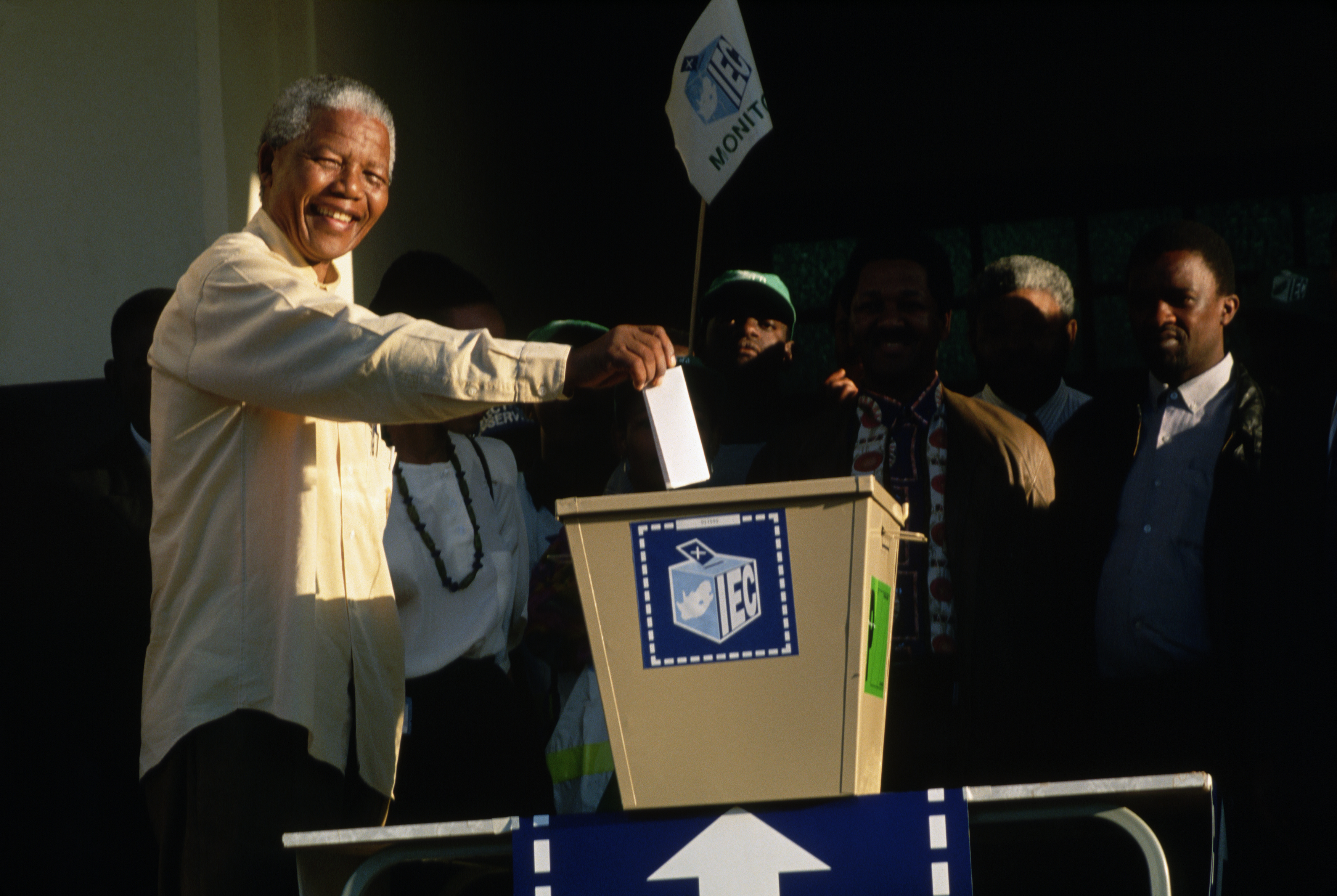 Nelson Mandela Casting His Vote