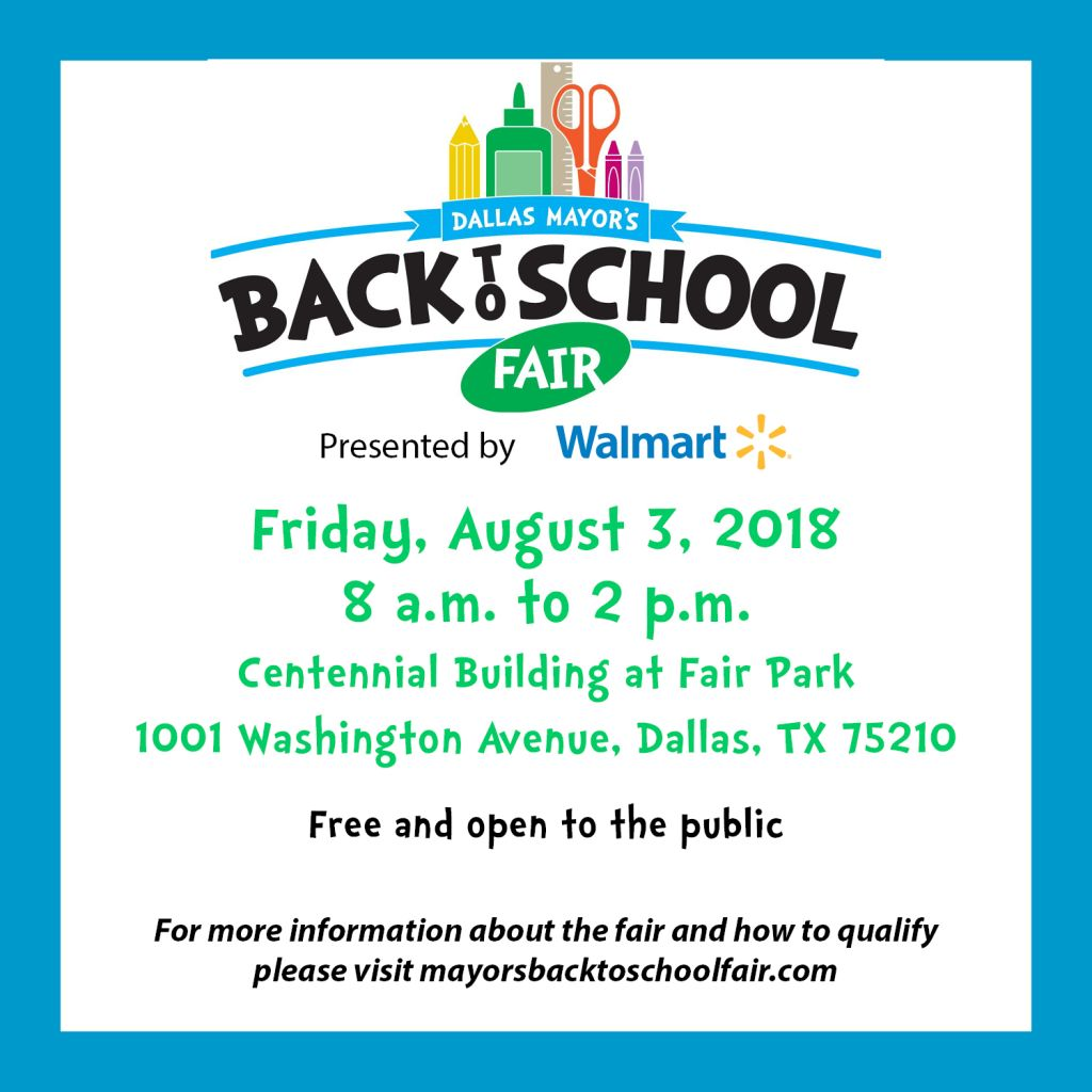 Dallas Mayor's Back to School Fair