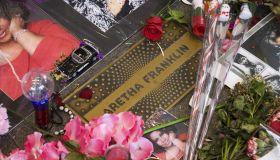 The Apollo Theater memorial of Aretha Franklin