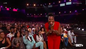 The 2017 BET Awards hosted by Leslie Jones as seen on BET.
