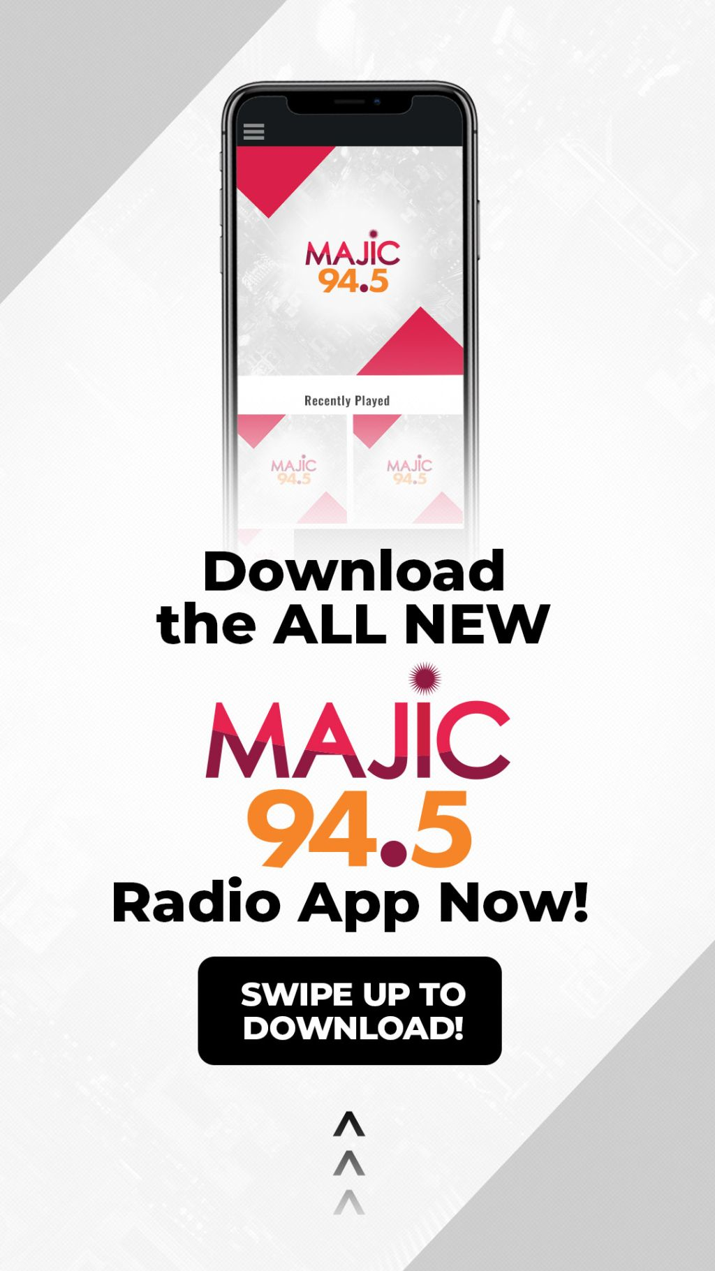 Majic 94.5 App Banners